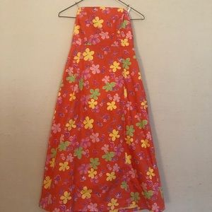 Lilly Pulitzer Coral Sabrina Strapless Dress Size6